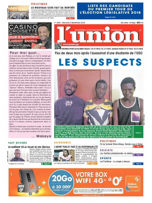L'Union 05/09/2018