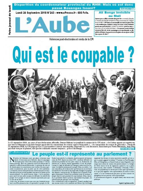 L'Aube 24/09/2018