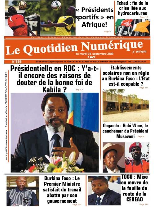 QUOTIDIEN NUMERIQUE D AFRIQUE  25/09/2018