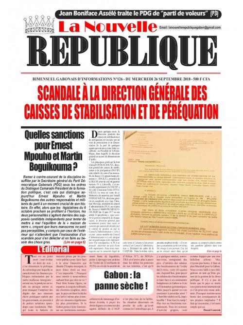 La Nouvelle Republique 26/09/2018