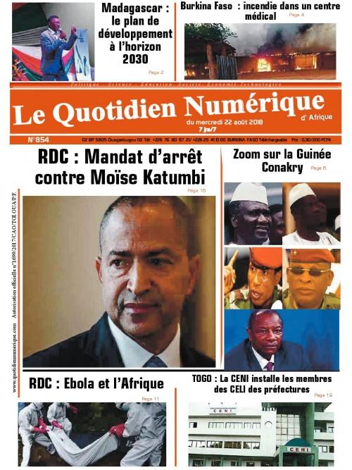 QUOTIDIEN NUMERIQUE D AFRIQUE  22/08/2018