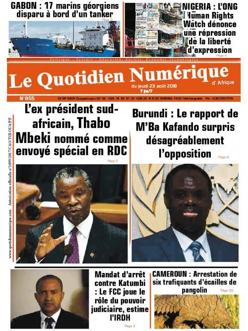 QUOTIDIEN NUMERIQUE D AFRIQUE  23/08/2018