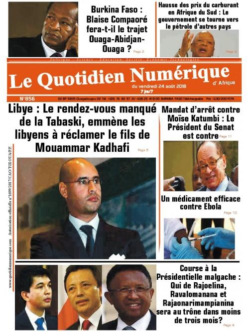 QUOTIDIEN NUMERIQUE D AFRIQUE  24/08/2018