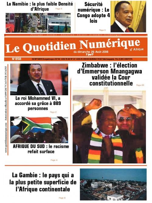 QUOTIDIEN NUMERIQUE D AFRIQUE  26/08/2018