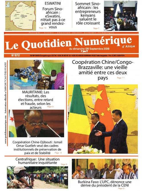 QUOTIDIEN NUMERIQUE D AFRIQUE  09/09/2018