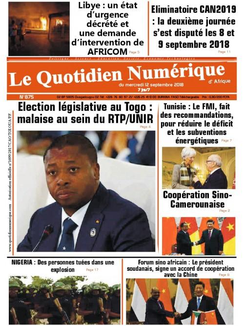 QUOTIDIEN NUMERIQUE D AFRIQUE  12/09/2018