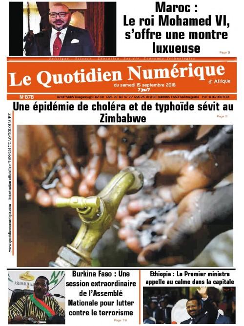 QUOTIDIEN NUMERIQUE D AFRIQUE  15/09/2018