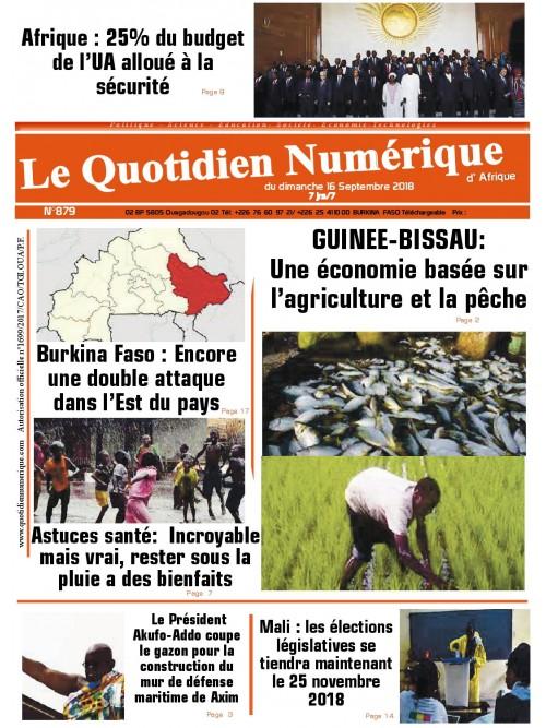 QUOTIDIEN NUMERIQUE D AFRIQUE  16/09/2018