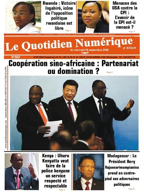 QUOTIDIEN NUMERIQUE D AFRIQUE  19/09/2018