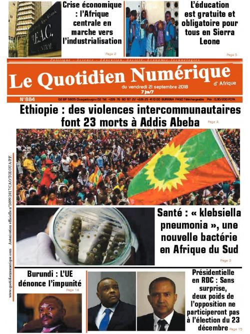 QUOTIDIEN NUMERIQUE D AFRIQUE  21/09/2018