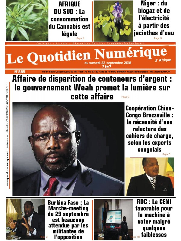 QUOTIDIEN NUMERIQUE D AFRIQUE  22/09/2018