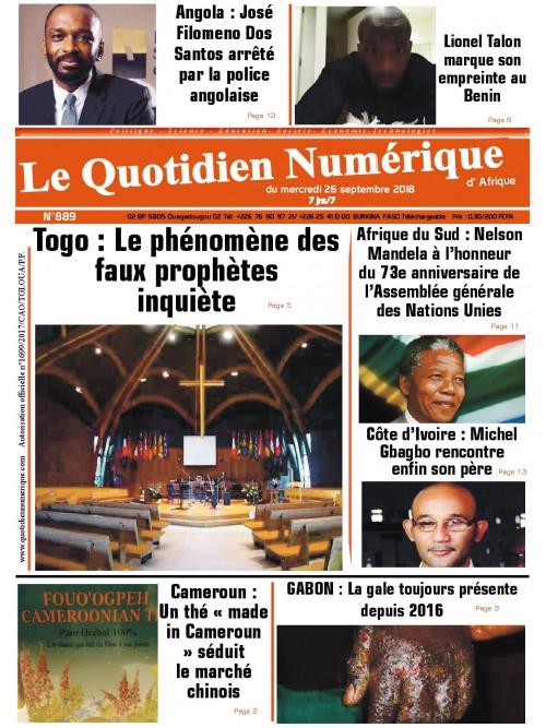 QUOTIDIEN NUMERIQUE D AFRIQUE  26/09/2018