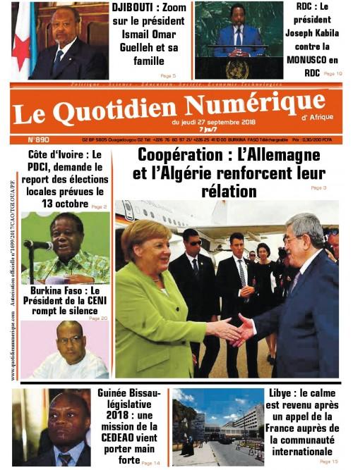 QUOTIDIEN NUMERIQUE D AFRIQUE  27/09/2018