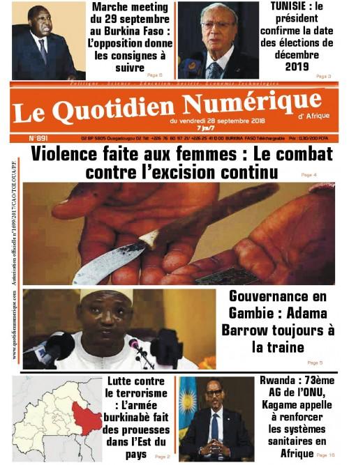 QUOTIDIEN NUMERIQUE D AFRIQUE  28/09/2018