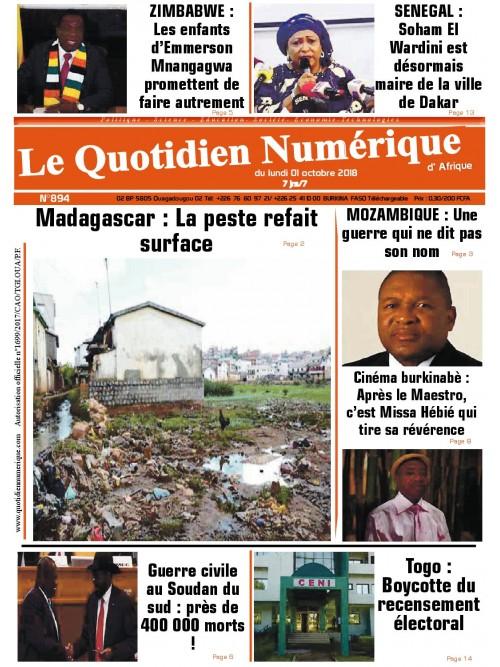 QUOTIDIEN NUMERIQUE D AFRIQUE  01/10/2018