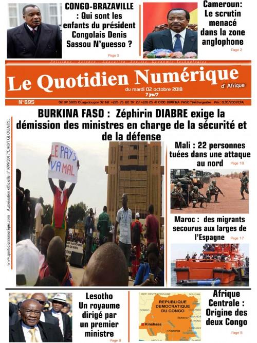 QUOTIDIEN NUMERIQUE D AFRIQUE  02/10/2018