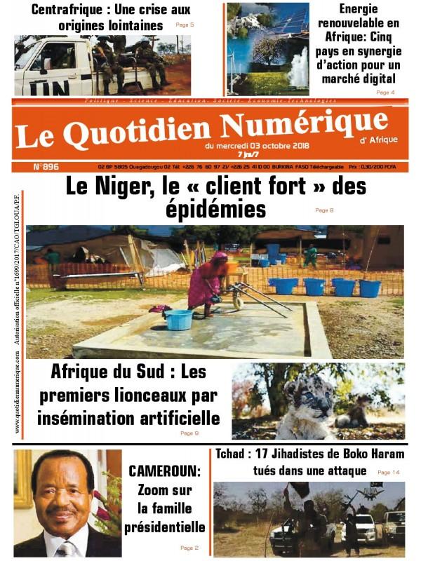 QUOTIDIEN NUMERIQUE D AFRIQUE  03/10/2018