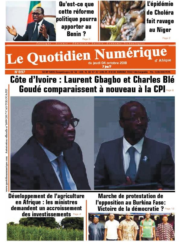 QUOTIDIEN NUMERIQUE D AFRIQUE  04/10/2018