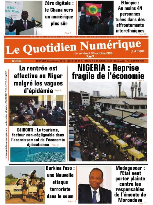 QUOTIDIEN NUMERIQUE D AFRIQUE  05/10/2018