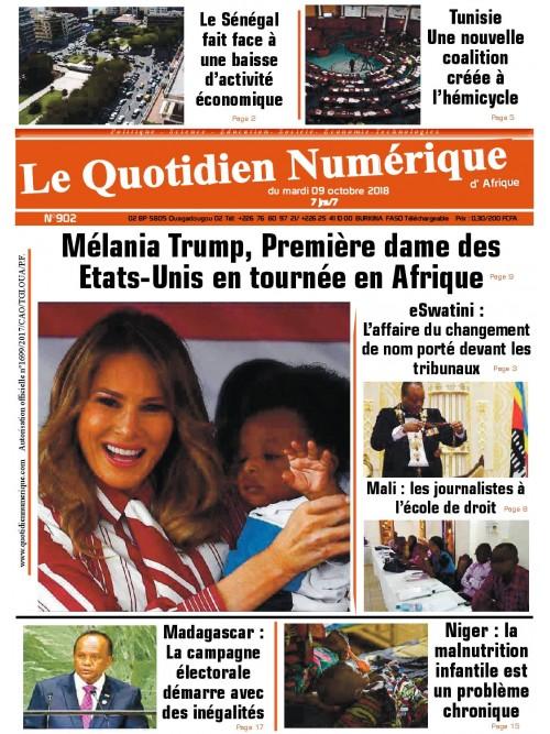 QUOTIDIEN NUMERIQUE D AFRIQUE  09/10/2018
