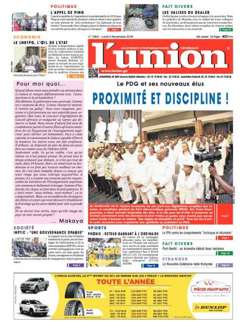 L'Union 05/11/2018