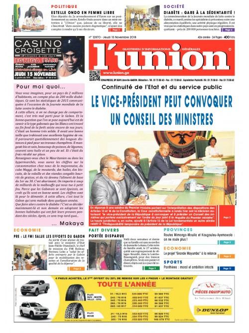 L'Union 15/11/2018