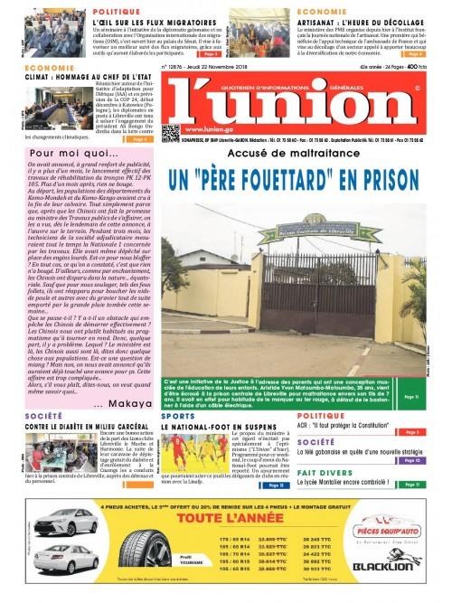 L'Union 22/11/2018