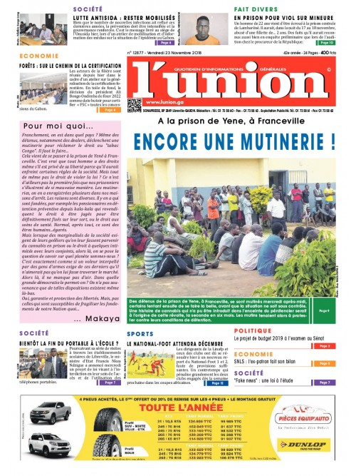 L'Union 23/11/2018