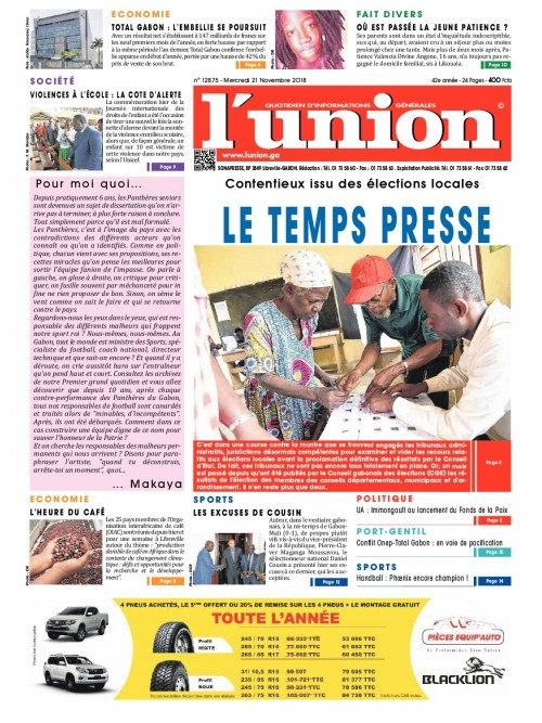 L'Union 21/11/2018