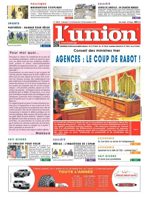 L'Union 17/11/2018