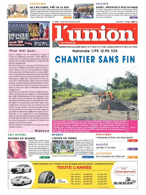 L'Union 29/11/2018