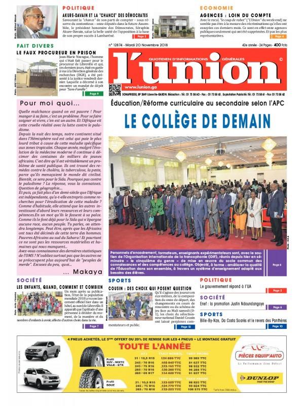 L'Union 20/11/2018