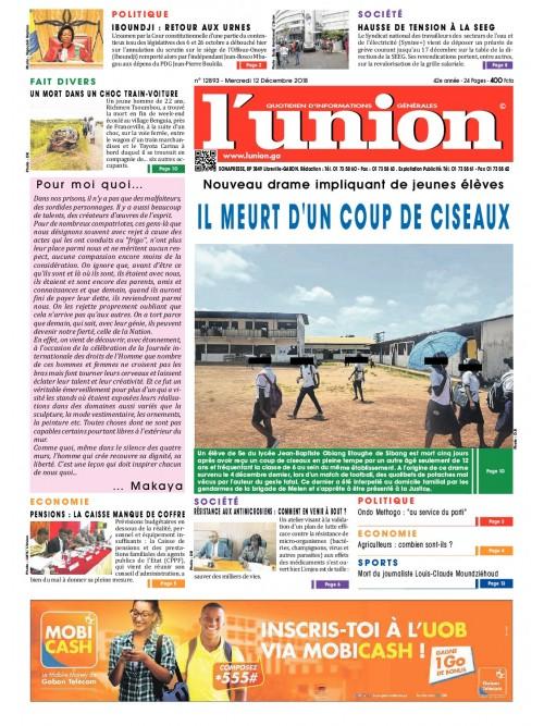 L'Union 12/12/2018