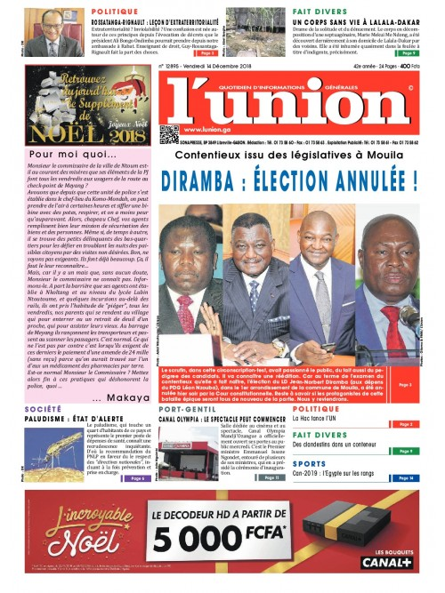 L'Union 14/12/2018