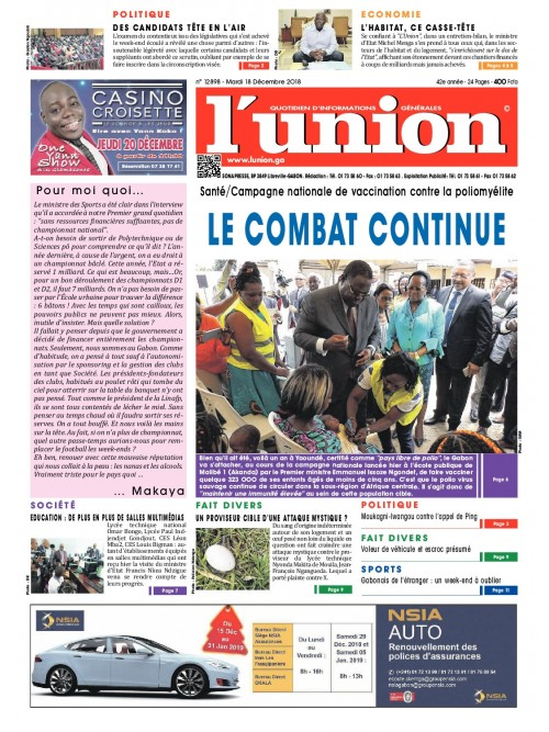 L'Union 18/12/2018
