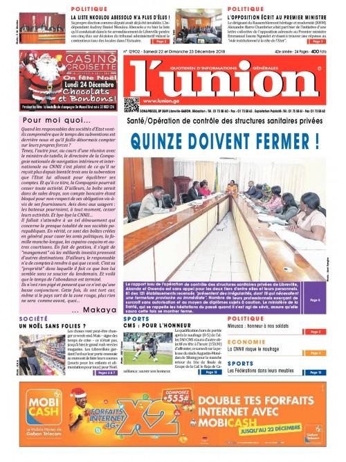 L'Union 22/12/2018
