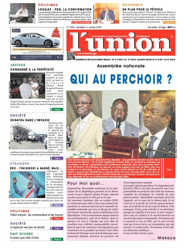 L'Union 11/01/2019