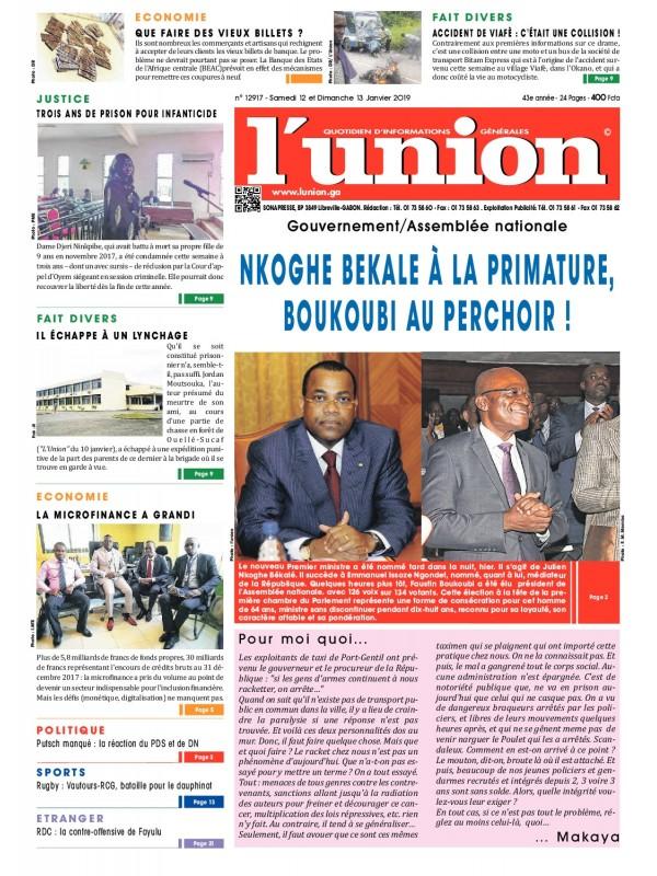 L'Union 12/01/2019