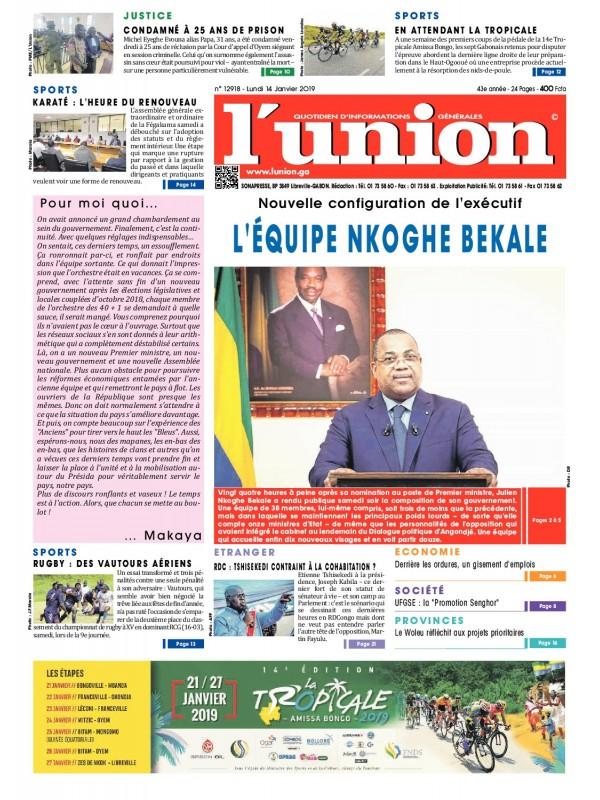 L'Union 14/01/2019