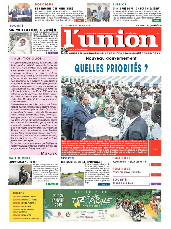 L'Union 15/01/2019