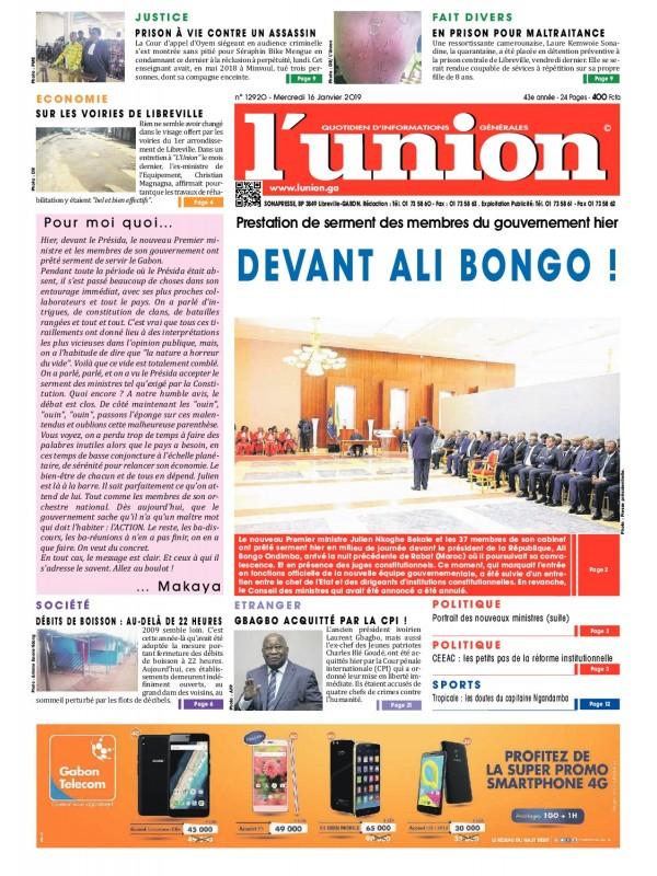 L'Union 16/01/2019
