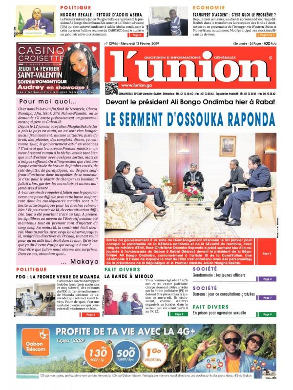 L'Union 13/02/2019