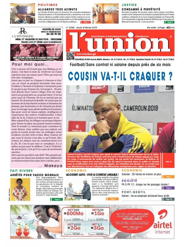L'Union 14/02/2019