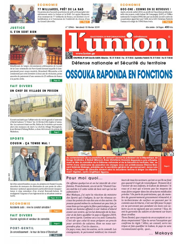 L'Union 15/02/2019