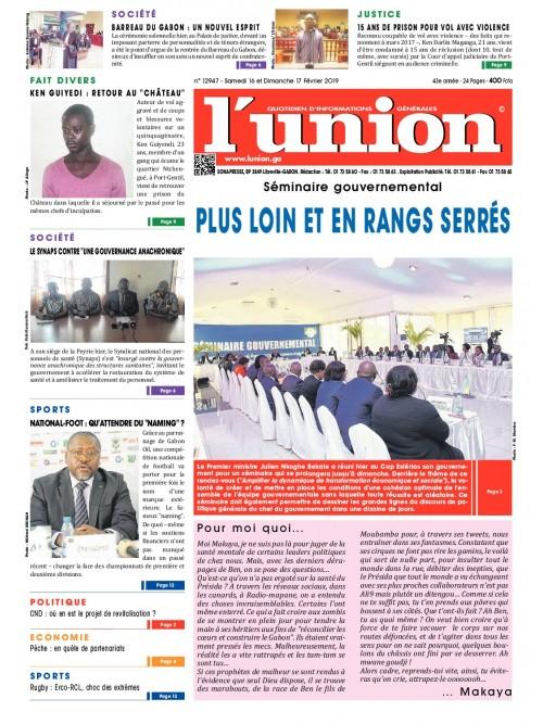 L'Union 16/02/2019