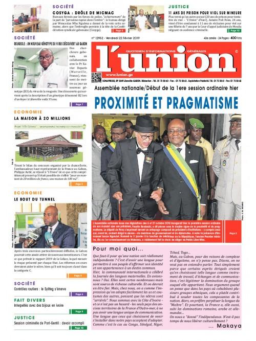 L'Union 22/02/2019