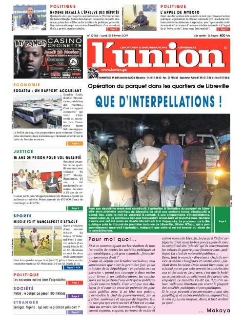 L'Union 25/02/2019