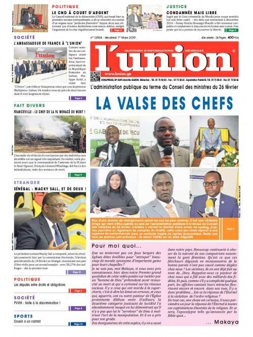 L'Union 01/03/2019