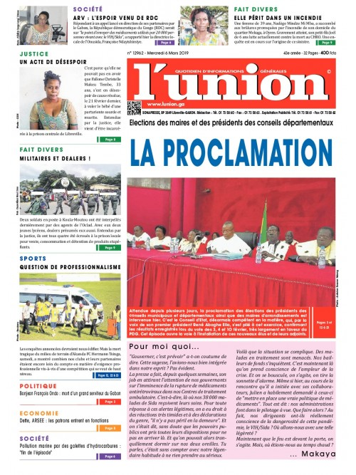 L'Union 06/03/2019