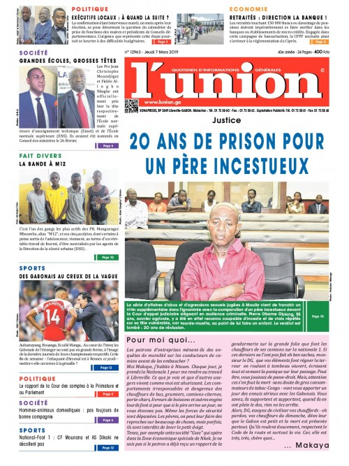 L'Union 07/03/2019